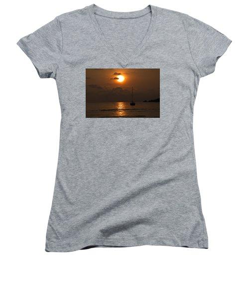Solitude Women's V-Neck T-Shirt (Junior Cut) by Jim Walls PhotoArtist