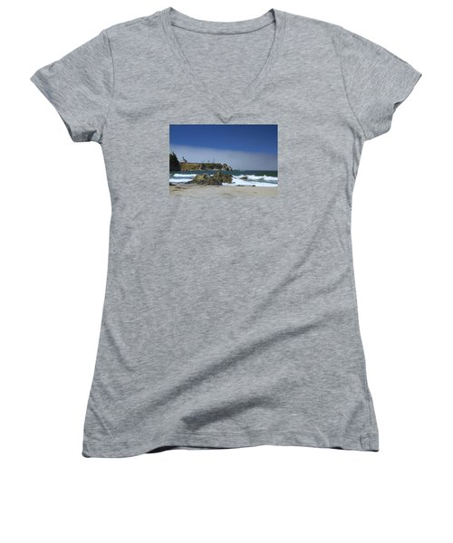 Women's V-Neck T-Shirt (Junior Cut) featuring the photograph Solitude by Tom Kelly