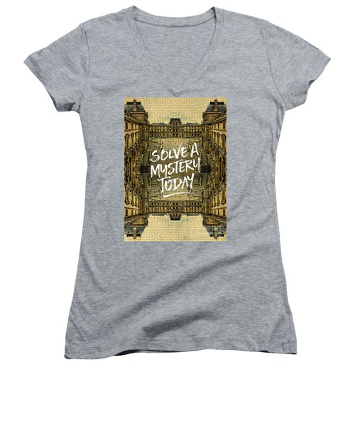 Solve A Mystery Today Louvre Museum Paris France Women's V-Neck