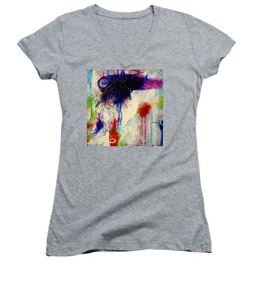 Some Dance To Forget Women's V-Neck T-Shirt (Junior Cut) by Tracy Bonin