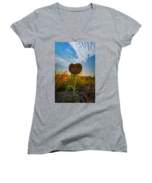 Some Flower Women's V-Neck T-Shirt