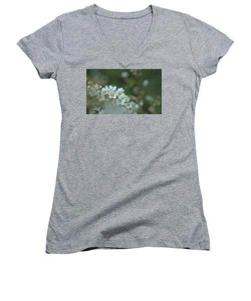 Some Gentle Feelings Women's V-Neck T-Shirt (Junior Cut) by Rachel Mirror