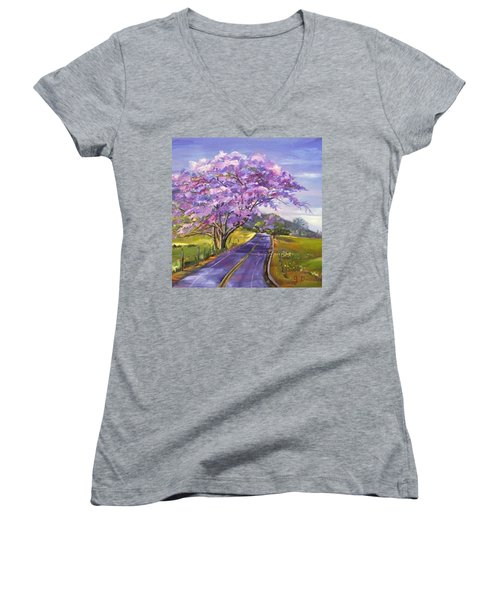 Some More #hawaii Dreaming... This Women's V-Neck T-Shirt (Junior Cut) by Jennifer Beaudet