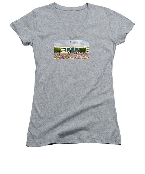 Women's V-Neck T-Shirt (Junior Cut) featuring the photograph Some Save All - No.2015 by Joe Finney