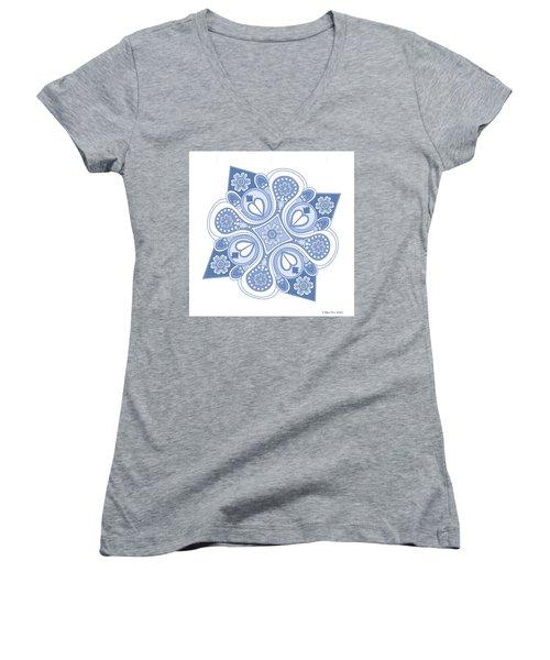 Something4 Women's V-Neck T-Shirt (Junior Cut) by Megan Dirsa-DuBois