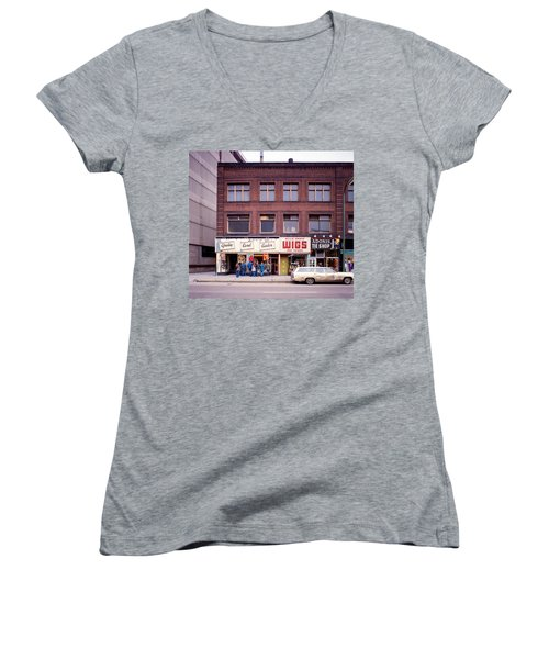 Something's Going On At The Greeting Card Center. Women's V-Neck