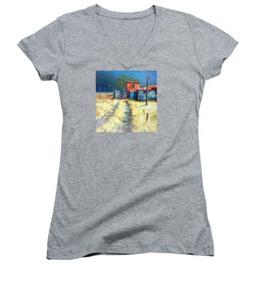 Somewhere Far Away Women's V-Neck T-Shirt