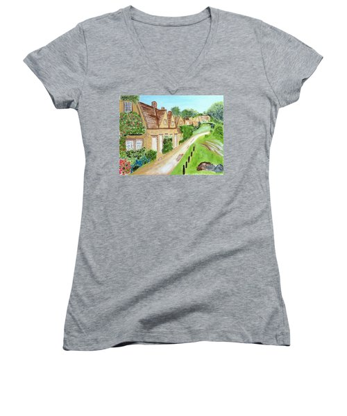 Somewhere In Cotswolds South West England Women's V-Neck (Athletic Fit)