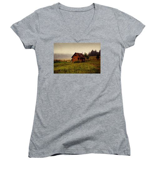 Somewhere In The Countryside. Russia Women's V-Neck