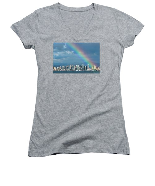 Women's V-Neck (Athletic Fit) featuring the photograph Somewhere Under by Dan McGeorge