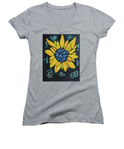 Son Flower Women's V-Neck