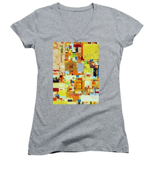 Song Of Solar Fusion Women's V-Neck T-Shirt (Junior Cut) by Regina Valluzzi