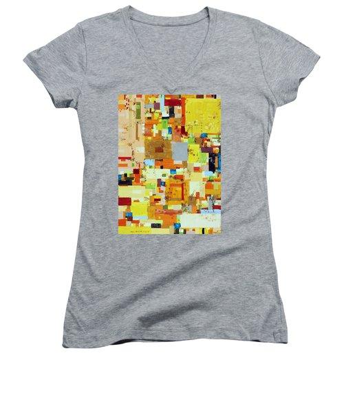 Song Of Solar Fusion Women's V-Neck T-Shirt