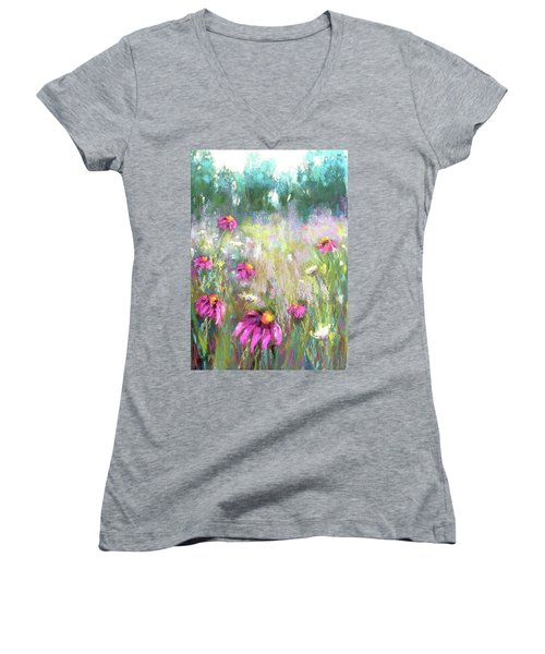 Song Of The Flowers Women's V-Neck