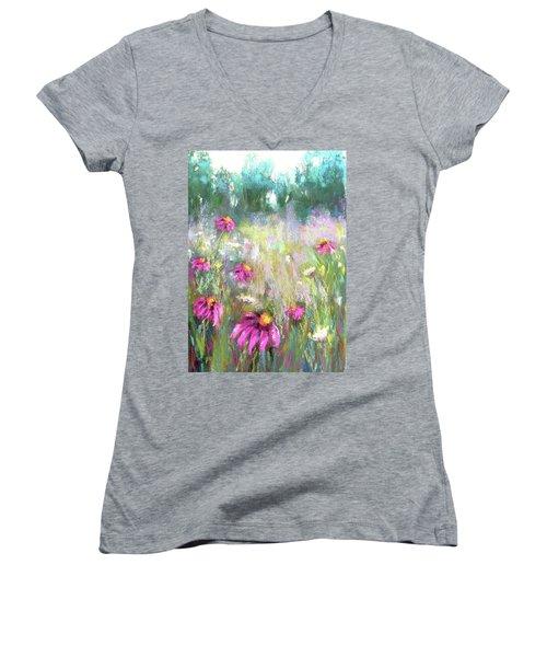 Song Of The Flowers Women's V-Neck