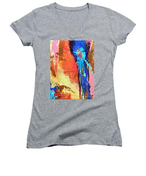 Song Of The Water Women's V-Neck T-Shirt (Junior Cut)