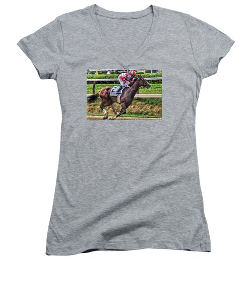 Songbird With Mike Smith Saratoga August 2017 Women's V-Neck (Athletic Fit)
