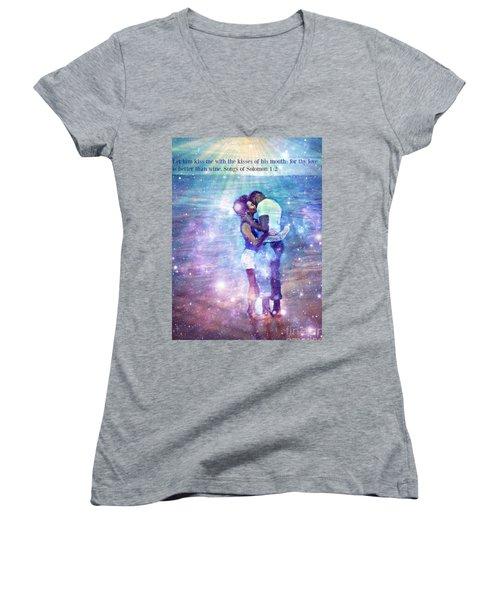 Songs Of Solomon Women's V-Neck T-Shirt (Junior Cut) by Vannetta Ferguson