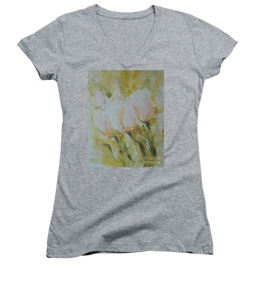 Sonnet To Tulips Women's V-Neck (Athletic Fit)