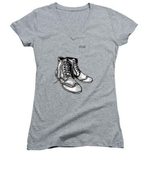 Soul 2 Women's V-Neck T-Shirt (Junior Cut) by Tom Fedro - Fidostudio