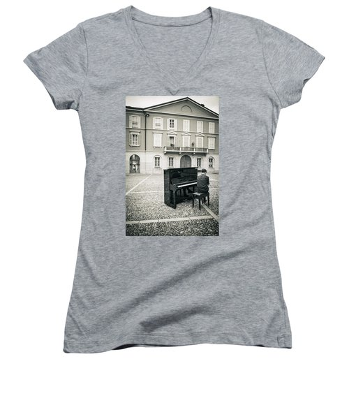 Soul Women's V-Neck T-Shirt (Junior Cut) by Alfio Finocchiaro