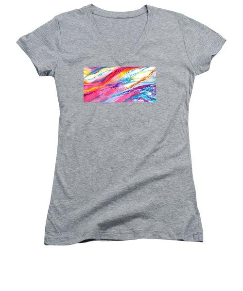 Soul Escaping Women's V-Neck T-Shirt (Junior Cut) by Expressionistart studio Priscilla Batzell
