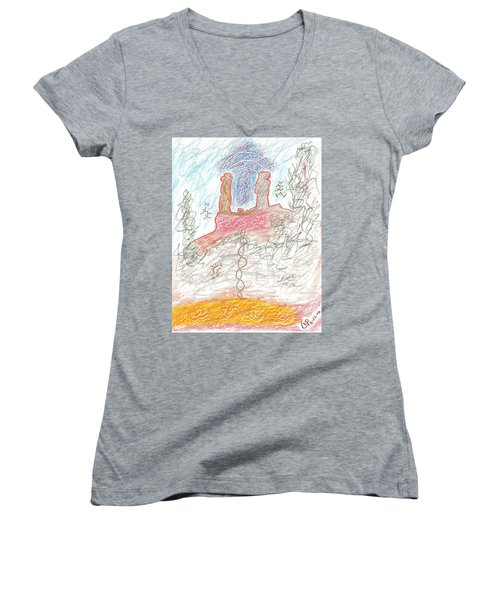 Soul Mates Women's V-Neck T-Shirt