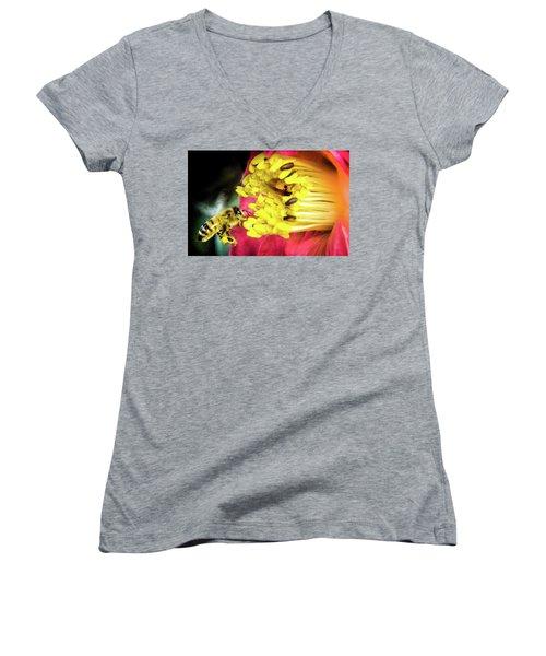 Soul Of Life Women's V-Neck T-Shirt (Junior Cut) by Karen Wiles
