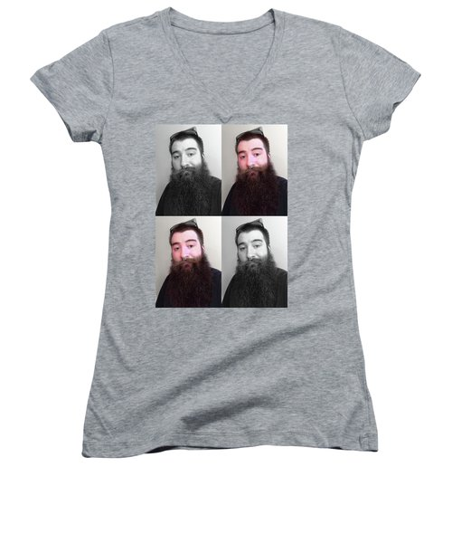 Women's V-Neck T-Shirt featuring the photograph Soulmate In Colour by Shawn Dall