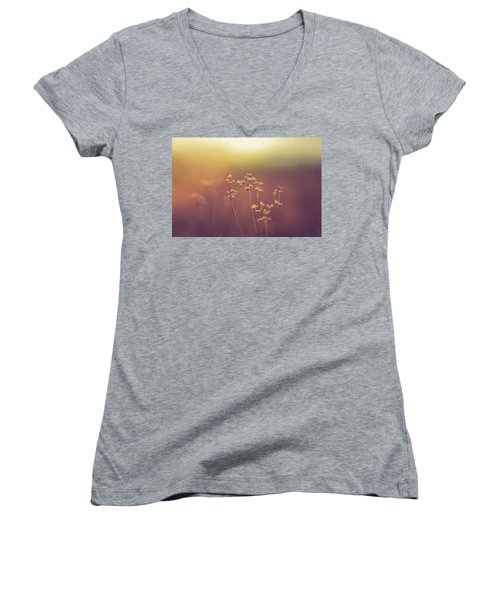 Women's V-Neck T-Shirt (Junior Cut) featuring the photograph Souls Of Glass by Shane Holsclaw