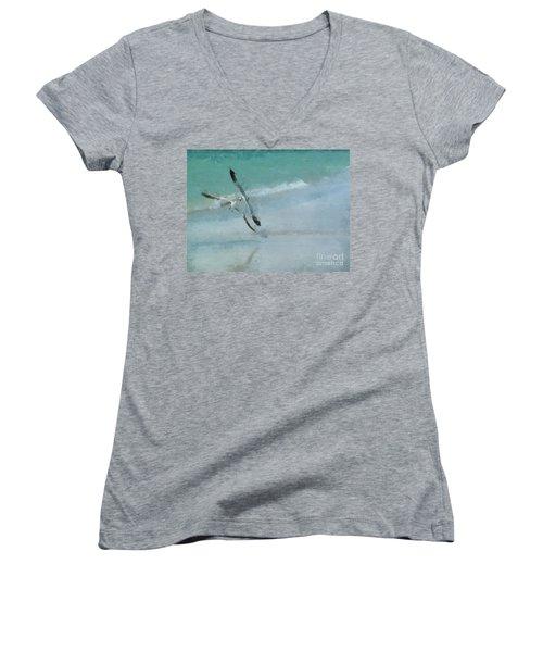 Sound Of Seagulls Women's V-Neck