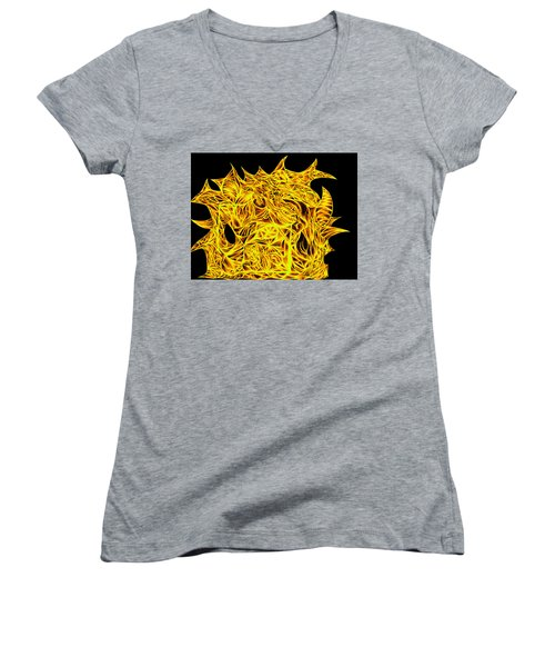 Women's V-Neck T-Shirt (Junior Cut) featuring the drawing Sour Desire by Jamie Lynn