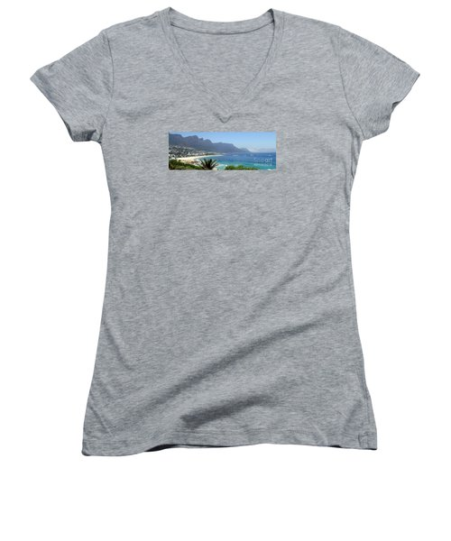 South Africa Coast Women's V-Neck T-Shirt (Junior Cut) by John Potts