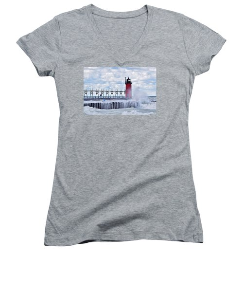 South Haven Lighthouse Women's V-Neck