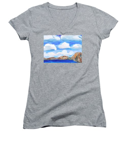 South Morro Bay View To North Women's V-Neck