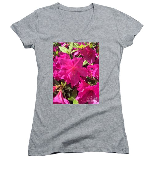 Southern Pink Women's V-Neck (Athletic Fit)