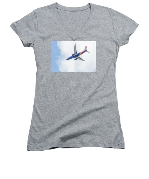 Southwest Airlines With A Heart Women's V-Neck