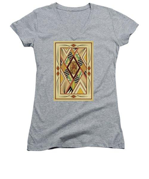 Southwest Lizard  Women's V-Neck T-Shirt