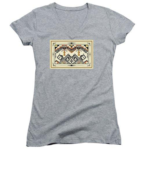 Southwest Pattern Women's V-Neck T-Shirt