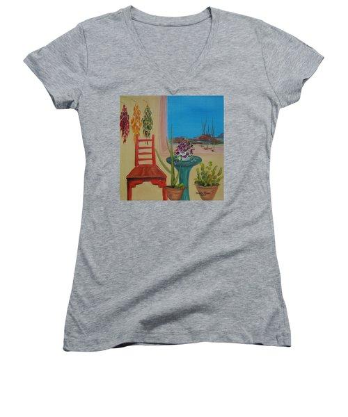 Southwestern 6 Women's V-Neck T-Shirt