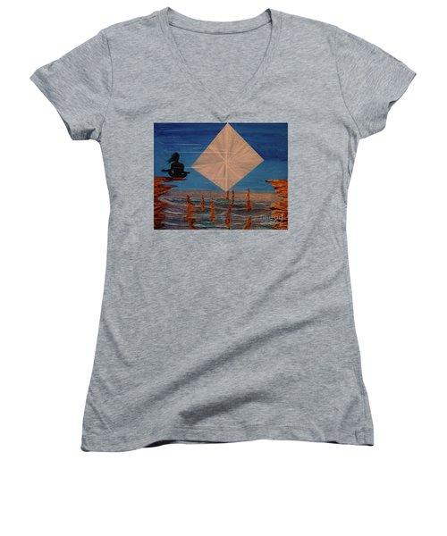 Soycd Women's V-Neck T-Shirt (Junior Cut) by Stuart Engel