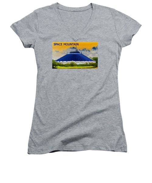 Space Mountain Women's V-Neck T-Shirt