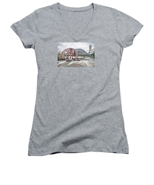 Women's V-Neck T-Shirt (Junior Cut) featuring the photograph Spaced Out by Andy Crawford