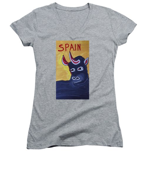 Spain  Women's V-Neck (Athletic Fit)