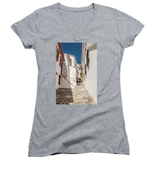 Spanish Street 1 Women's V-Neck (Athletic Fit)