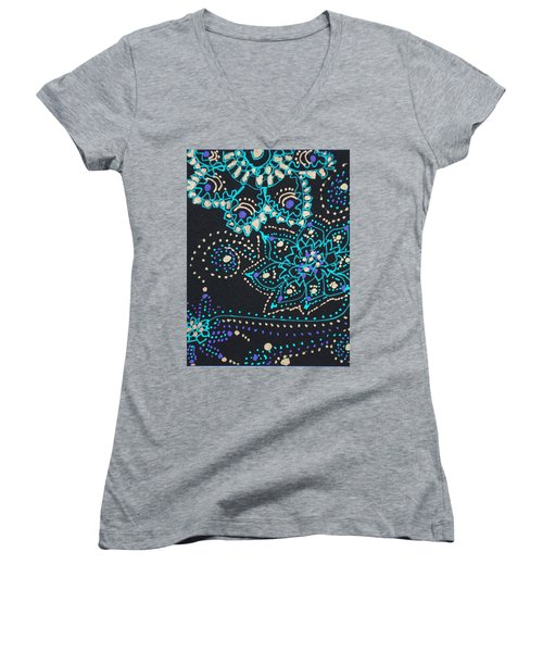 Midnite Sparkle Women's V-Neck
