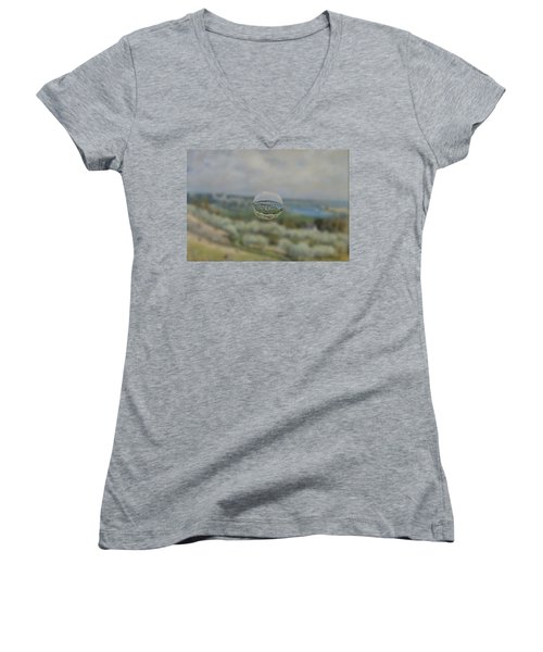 Sphere 24 Sisley Women's V-Neck T-Shirt (Junior Cut) by David Bridburg