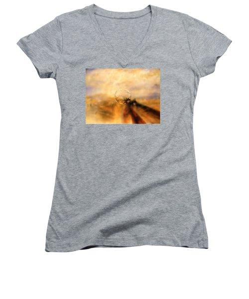 Sphere 8 Turner Women's V-Neck T-Shirt (Junior Cut) by David Bridburg