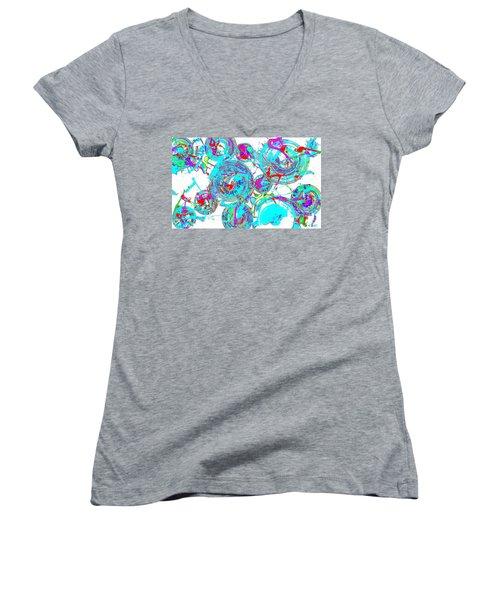 Spheres Series 1511.021413invfddfs-sc-2 Women's V-Neck T-Shirt (Junior Cut) by Kris Haas