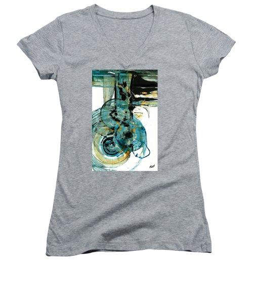 Spherical Joy Series 210.012011 Women's V-Neck T-Shirt (Junior Cut) by Kris Haas